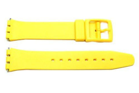 Yellow Smooth Swatch Style Watch Strap - B-P149