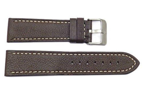 Genuine Smooth Leather Anti-Allergic Dark Brown Panerai Watch Band