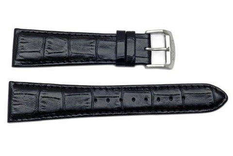 Genuine Citizen Black Textured Leather 23mm Eco-Drive Watch Strap