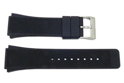 Kenneth Cole Black Polyurethane 29/22mm Watch Band