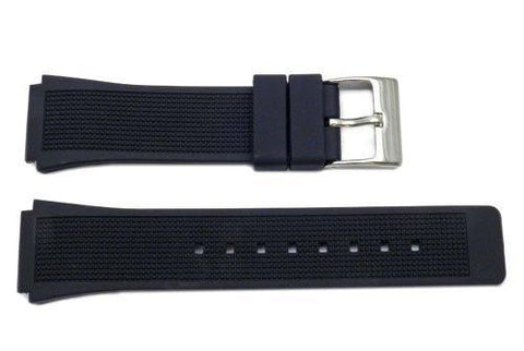 Kenneth Cole Black Polyurethane 24/19mm Watch Band