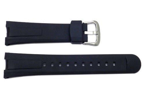 Genuine Casio Black Resin 31.5/20mm Watch Strap - 10447496