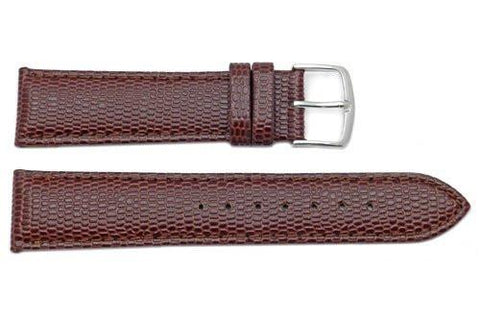 Hadley Roma Java Lizard Grain Brown Textured Padded Watch Strap