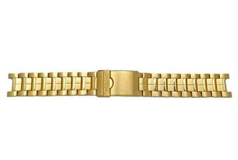 Pulsar Gold Tone Solid Link Stainless Steel 20mm Watch Bracelet