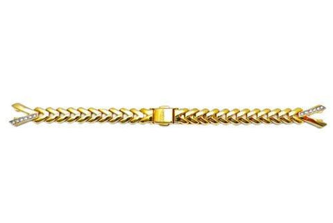 Seiko Gold Tone Woman's Solar Watch Bracelet