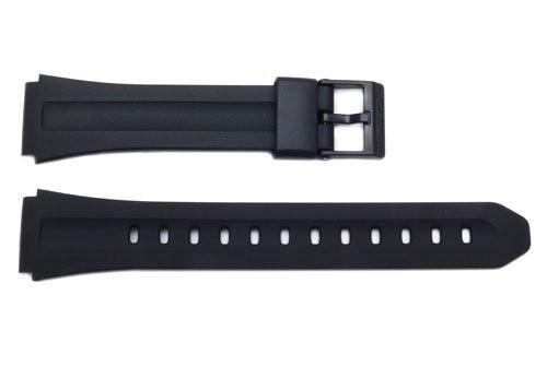 Genuine Casio Black Resin 22/18mm Watch Strap