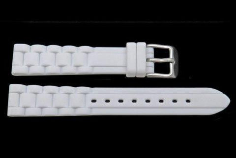Hadley Roma White Silicone Diver Watch Band