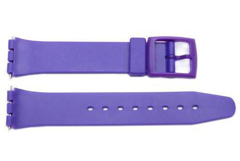 Purple Smooth Swatch Style Watch Strap - B-P154