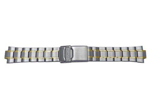 Seiko Dual Tone Fold Over Clasp With Safety Watch Bracelet