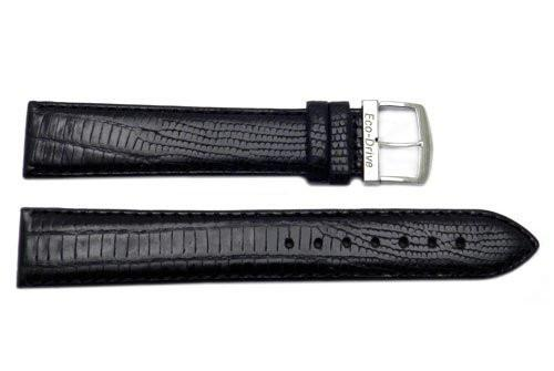 Citizen Eco-Drive Textured Leather Black Lizard Grain 20mm Watch Strap