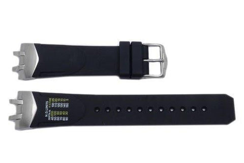 Genuine Citizen Rubber Black 24mm Watch Strap With Metal Ends