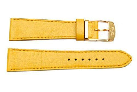 Genuine ZRC Veau Soft Yellow Calfskin Leather 20mm Watch Strap