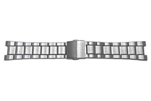 Genuine Seiko Stainless Steel Push Button Fold-Over Clasp Metal Watch Bracelet