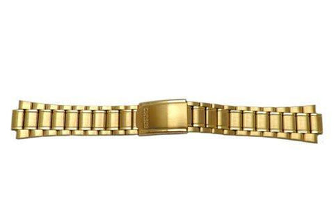 Seiko Gold Tone Brushed And Polished Fold-Over Clasp Watch Bracelet
