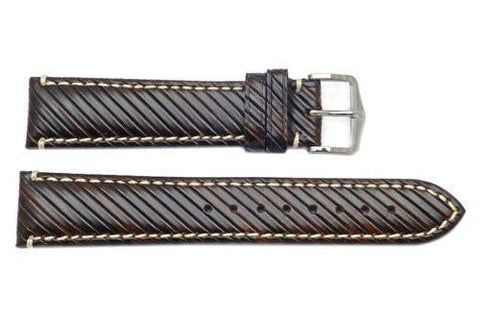 Hirsch Rivetta - Brown Calf Leather Watch Strap