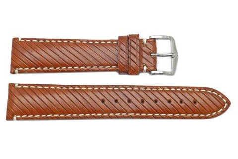 Hirsch Rivetta - Gold Brown Calf Leather Watch Strap
