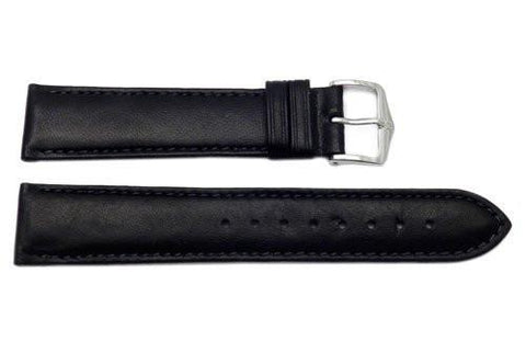 Hirsch Merino - Black Nappa Sheep Leather Watch Strap