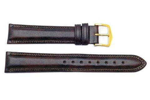 Hirsch Ascot - Brown Calf Leather Watch Strap