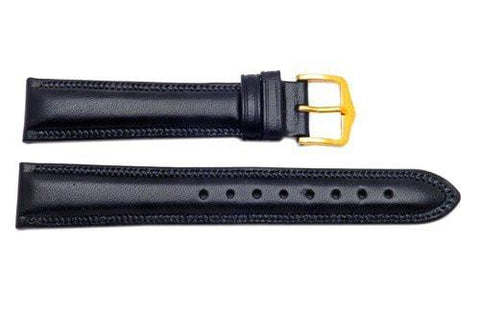Hirsch Ascot - Black Calf Leather Watch Strap