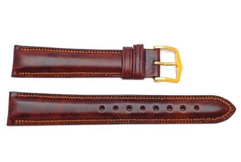 Hirsch Ascot - Gold Brown Calf Leather Watch Strap