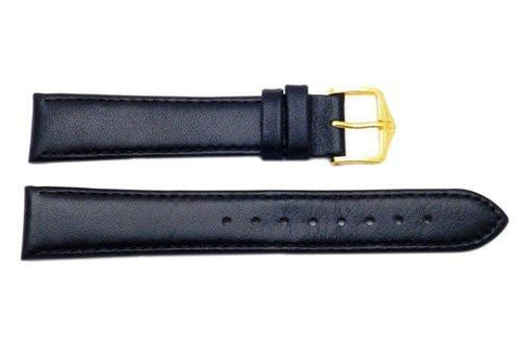 Hirsch Osiris - Black Calf Leather Watch Strap