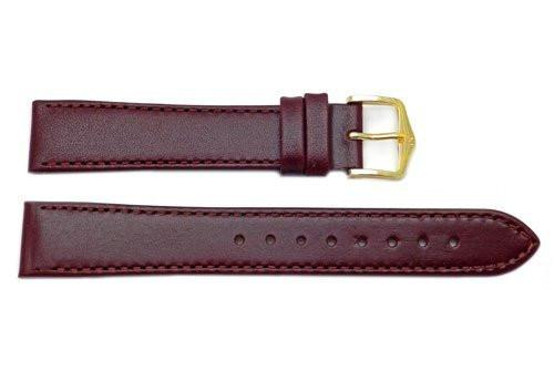Hirsch Osiris - Burgundy Calf Leather Watch Strap