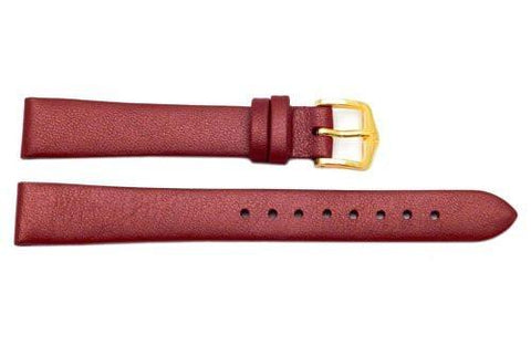 Hirsch Cashmere - Burgundy Aloe Vera Finish Ladies Calf Leather 12mm Watch Strap