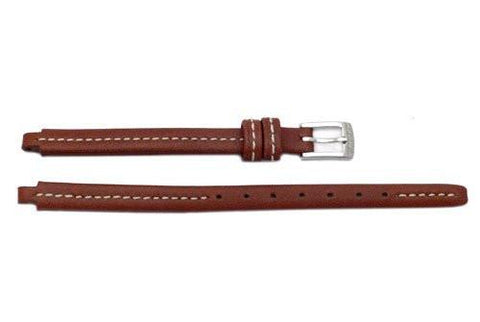 Genuine Coach Brown Stitched Leather 5/6mm Watch Band
