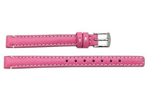 Genuine Coach Pink Smooth Leather 9mm Watch Band