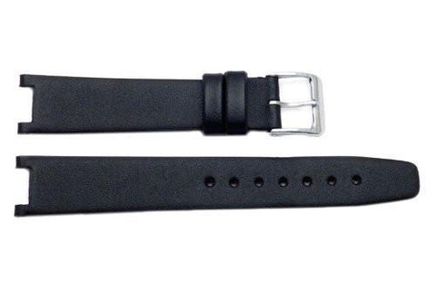 Genuine ESQ Black Smooth Leather 16mm Watch Strap