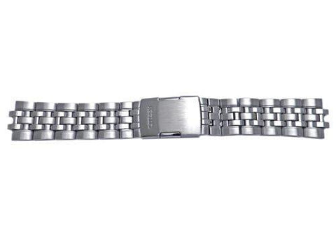 Citizen Silver Tone Stainless Steel Push Button Clasp 22mm Watch Bracelet