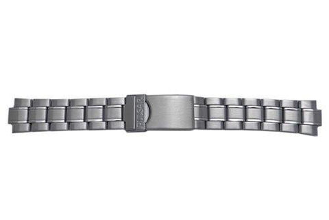 Pulsar Stainless Steel Fold-Over Clasp With Safety Watch Bracelet