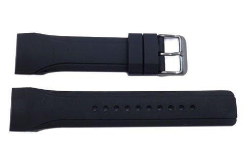 Pulsar Black Urethane 24mm Rubber Watch Strap