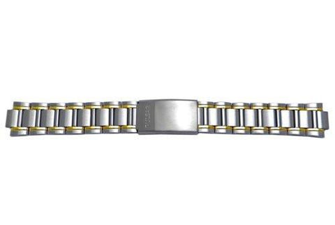 Pulsar Dual Tone Fold-Over Clasp 20mm Watch Bracelet