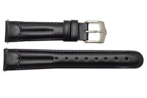 Genuine Wenger Unisex Black 19mm Leather Watch Strap