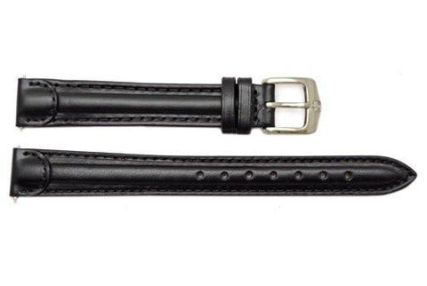 Genuine Wenger Ladies Black 14mm Leather Watch Strap