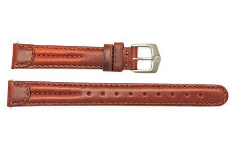 Genuine Wenger Long Ladies Brown 14mm Leather Watch Strap