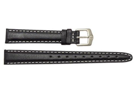 Genuine Wenger Long Ladies Black Field Issue 14mm Leather Watch Strap