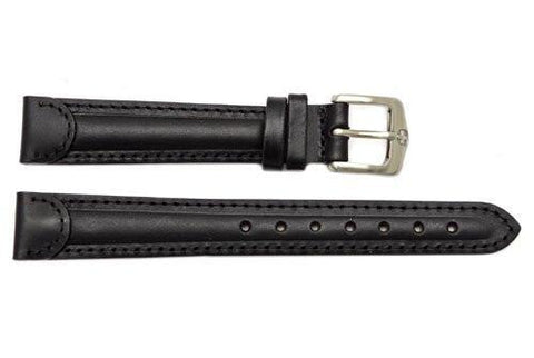 Genuine Wenger Ladies Black 14mm Alpine Series Leather Watch Strap