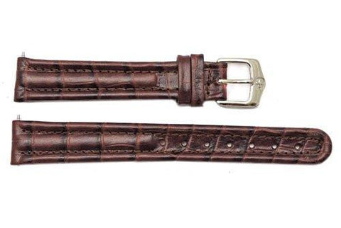 Genuine Wenger Brown Alligator Grain 14mm Leather Watch Strap