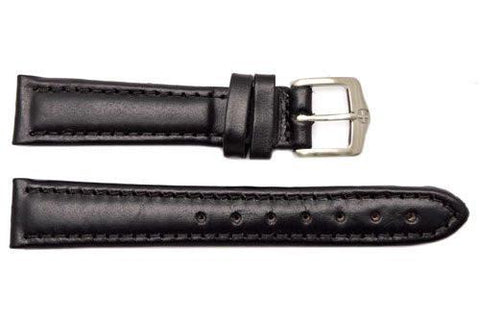 Genuine Wenger Unisex Black 16mm Leather Watch Strap