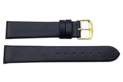 Genuine Calfskin Smooth Leather Watch Band