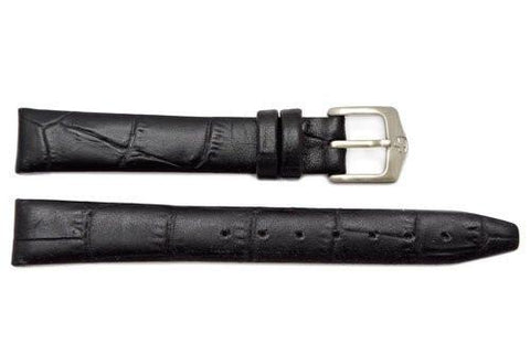 Genuine Wenger Ladies Black Alligator Grain 14mm Leather Watch Strap