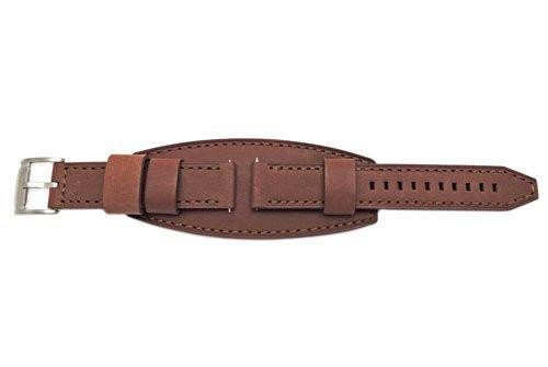 Fossil Brown Textured Leather 22mm Keaton Watch Cuffband