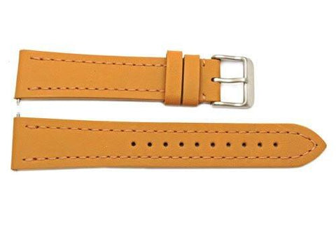 Genuine Swiss Army Tan Smooth Leather 20mm Infantry Chrono Watch Strap