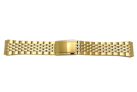 Genuine Seiko Mens Dual Tone 20mm Fold-Over Clasp Watch Bracelet
