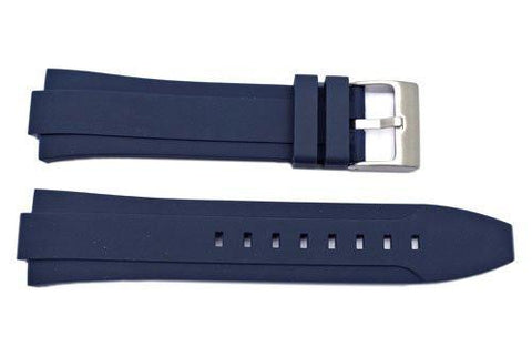 Kenneth Cole Blue Polyurethane 24/12mm Watch Band