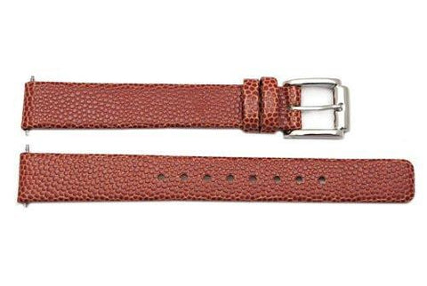 Kenneth Cole Genuine Textured Tan Leather 13mm Watch Strap