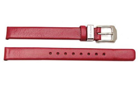 Kenneth Cole Genuine Smooth Red Leather Square Tip 10mm Watch Band