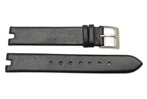 Kenneth Cole Genuine Black Leather 14/4mm Watch Band
